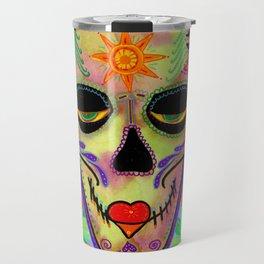 Sugar Skull Modern Mary Travel Mug