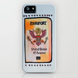 ticket to the world iPhone Case