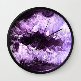 Amethyst Crystal Cave Wall Clock