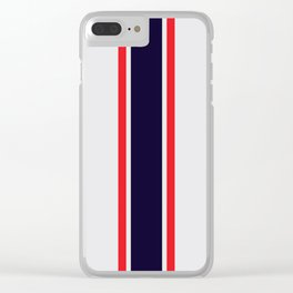 Silver Racer Clear iPhone Case