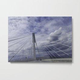 Port Mann Bridge Vancouver BC Metal Print
