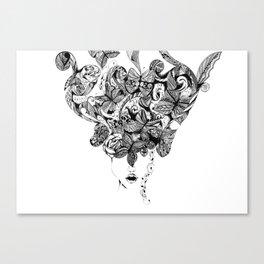 9 butterflies. - Alex Close Canvas Print