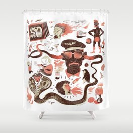 Crazy Travel Stories Shower Curtain