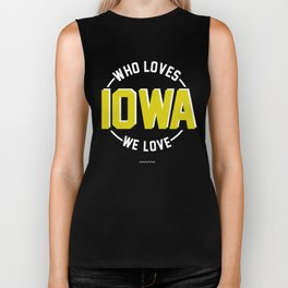 WHO LOVES IOWA? WE LOVE IOWA!  Biker Tank