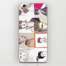 Fashion illustration composition iPhone & iPod Skin