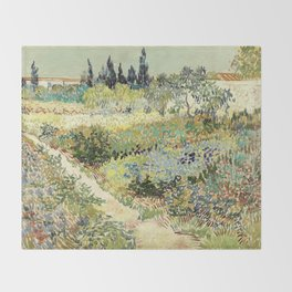 Vincent Van Gogh : Garden at Arles Throw Blanket