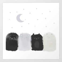 Sleep like Cats Art Print
