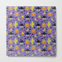 Desert Halloween in Purple Metal Print