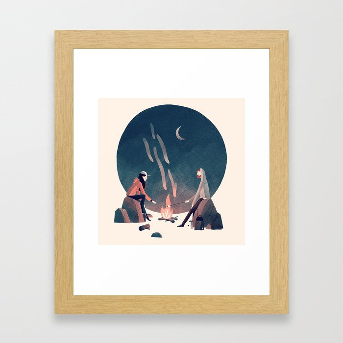 Happy Camping Framed Art Print