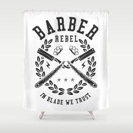 Barber Rebel Shower Curtain