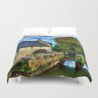 postcard Duvet Covers featuring French Postcard by Exquisite Photography by Lanis Rossi