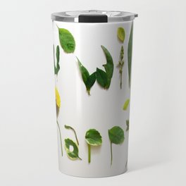"""Visual Proposal by Ethan Park """"You will be happy"""" Travel Mug"""