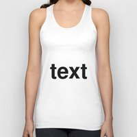 text Tank Tops featuring text by linguistic94