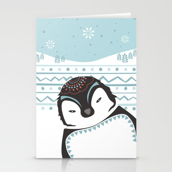 Messer Pinguino Stationery Cards