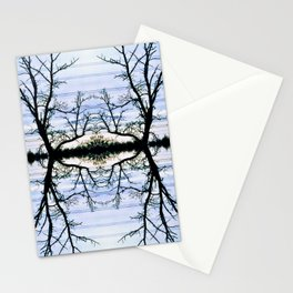 188 - Hydro wires and trees abstract design Stationery Cards