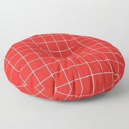 Cherry Grid Floor Pillow