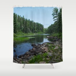 Boundary Waters River Shower Curtain