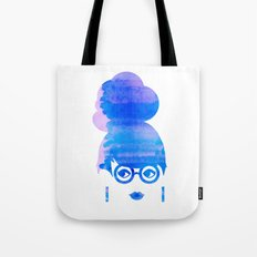 Curious Blue Tote Bag
