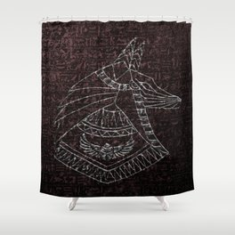 Anubis Egyptian God Shower Curtain
