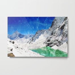 Wishing for Artic Mountains Metal Print