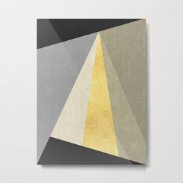 Textures and gold I Metal Print
