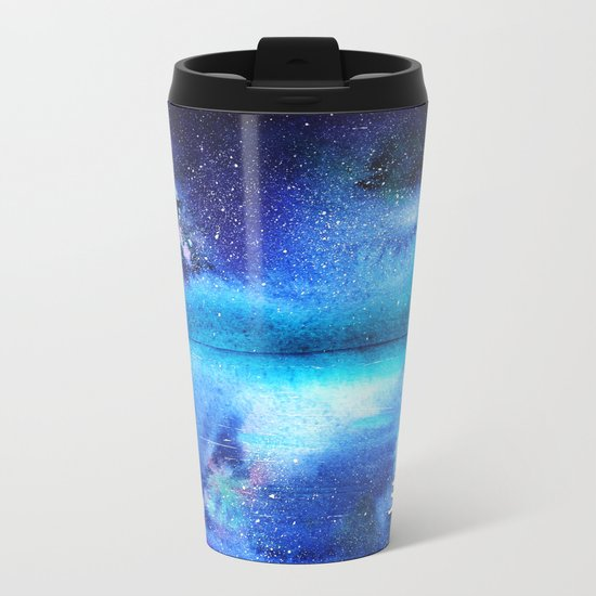 Under the moonlight || watercolor Metal Travel Mug