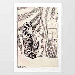 бабушка Art Print