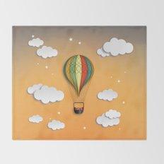 Balloon Aeronautics Dawn Throw Blanket