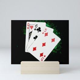 Blackjack Card Game, 21 Count, Queen Six Five Combination Mini Art Print