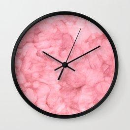 Blush Pink Watercolor Wall Clock