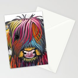 Scottish Highland Cow ' BRaVEHEaRT 2 ' by Shirley MacArthur Stationery Cards