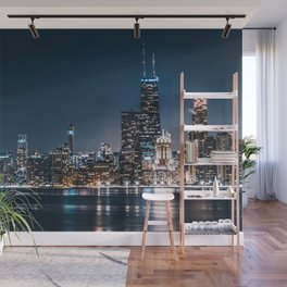 Chicago City Skyline Wall Mural