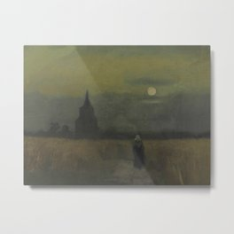 Vincent van Gogh - The Old Tower at Dusk Metal Print