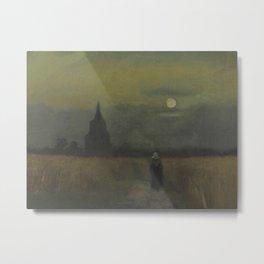 Vincent van Gogh - The Old Tower at Dusk Metal Print