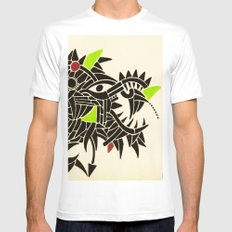 - dynamic rats - White Mens Fitted Tee MEDIUM