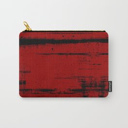Black Grunge on Red Carry-All Pouch