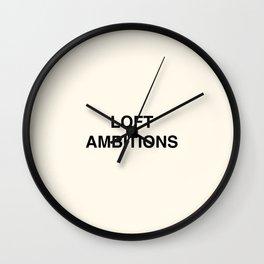 Loft Ambitions - Cream Wall Clock