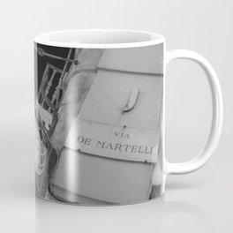 Via de martelli clock and light in Firenze street tuscany italy Coffee Mug