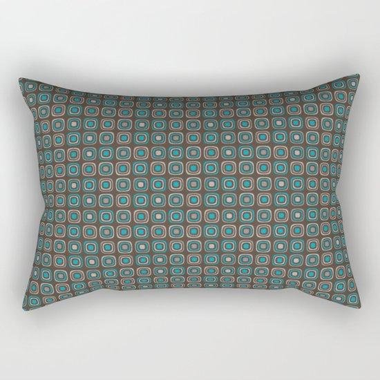 Pattern blue azul 6 Rectangular Pillow