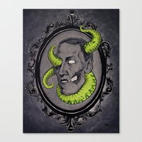 lovecraft Canvas Prints featuring HP Lovecraft by Jamile B. Johnson