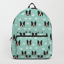 Boston Terrier head cute pet pattern dog breed gifts boston terrier lovers Backpack