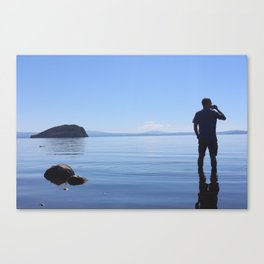 Lake Taupo Coffe Break Canvas Print