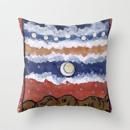 If the blue sky is a fantasy, Throw Pillow