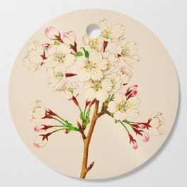 Yoshino Cherry Blossoms ~ Vintage Japan Art Cutting Board