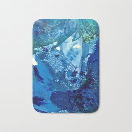 Environmental Blue Leaves, Tiny World Collection Bath Mat