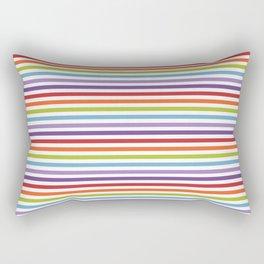 Modern artistic geometrical colorful violet orange green stripes Rectangular Pillow