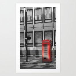 Telephone Box Art Print