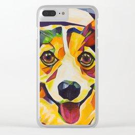 Pop Art Corgi Clear iPhone Case