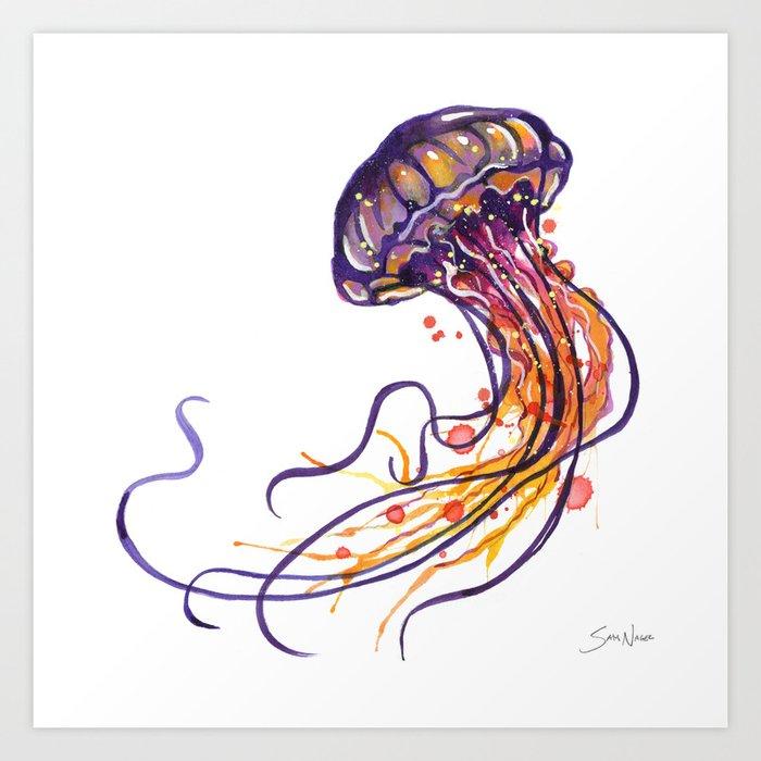 Jellyfish Art Print By Samnagel Society6