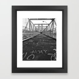 Williamsburg Bridge Stroll Framed Art Print